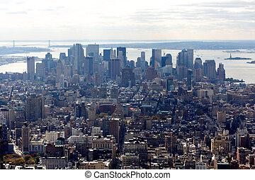 New York Manhattan Downtown Financial Area