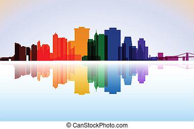 New York-Manhattan panorama