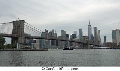 New York Manhattan skyline panorama,
