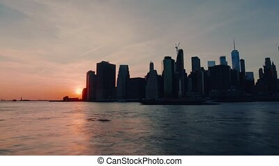 New York Manhattan sunset
