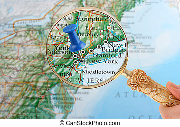 New York map tack