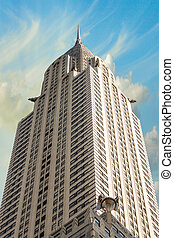 NEW YORK - MARCH 12: Chrysler building facade, pictured on on March 12th, 2010 in New York, was the world's tallest building before it was surpassed by the Empire State Building in 1931