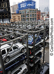 New York multi story parking lots - New York City multi...