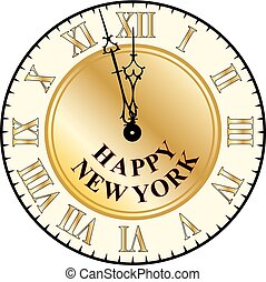 New york new year clock