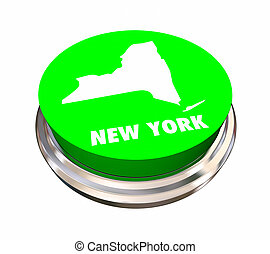 New York NY State Button Best Location Choice 3d ...
