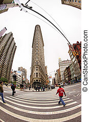 Flat Iron building - NEW YORK, NY, USA - OCT 12, 2012 : Flat...