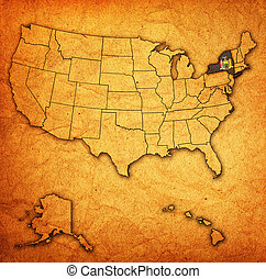 new york on map of usa