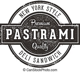 New York Pastrami Sandwich Sign