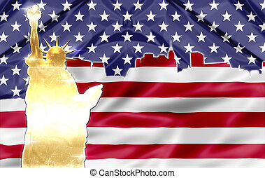 New York  Patriotic Symbols