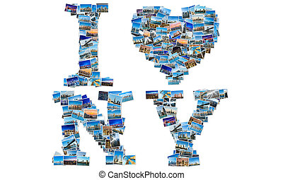 New York photos in collage
