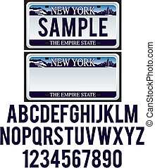 new york, registreringsskylt