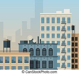 New York rooftops