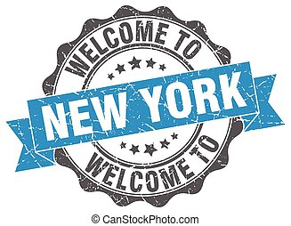New York round ribbon seal