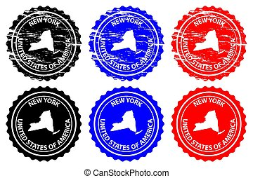 New York - rubber stamp
