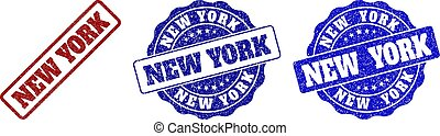 NEW YORK Scratched Stamp Seals