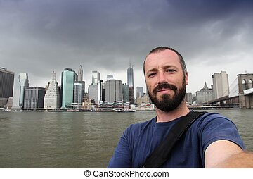 New York selfie - New York City selfie photo by a young...