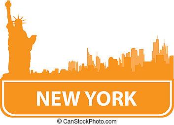 New York sity outline. Vector illustration for you design