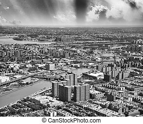 New York skyline aerial view