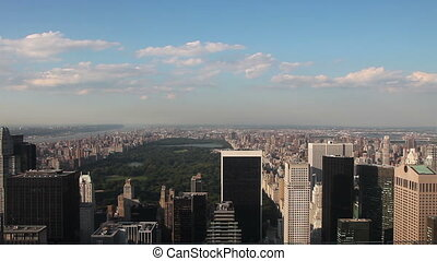 New York skyline - Central park New York, August 18, 2011,...