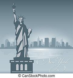 New York skyline city silhouette background