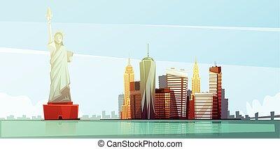New York Skyline Design Concept