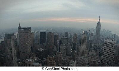 New York Skyline Fisheye