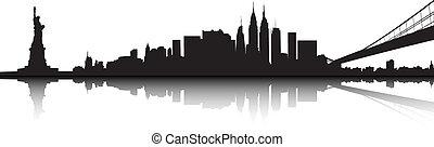 New York skyline - Vector of the New York skyline on white...