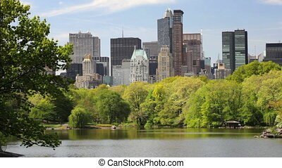 New York Skyline - New York City skyline view through...