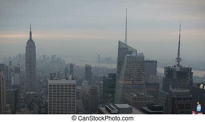 New York Skyline - Timelapse New York Skyline during...