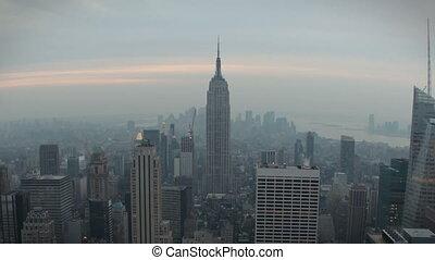 New York Skyline - Timelapse New York Skyline at sunset
