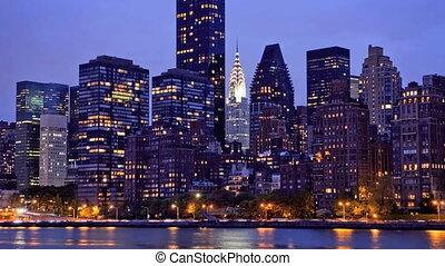 New York Skyline, Time Lapse