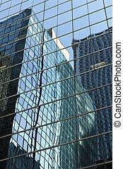 New York Skyscraper Reflection