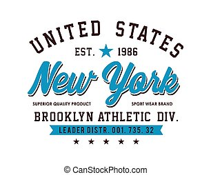 New York  Sport For T-shirt Graphic