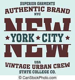 new york sport t-shirt