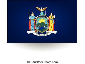 New York State Flag - Official flag of the state of New...