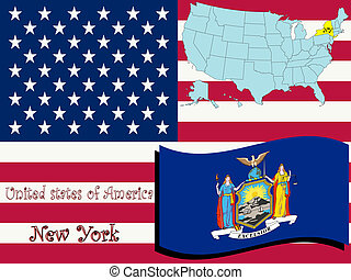 new york state illustration, abstract vector art