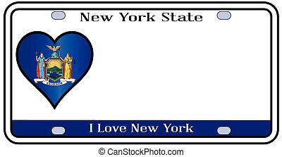New York State License Plate - New York state license plate...