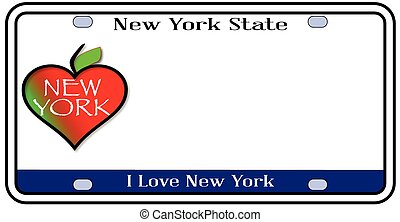 New York State License Plate
