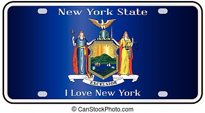 New York State License Plate Flag