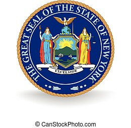 New York State Seal - Seal of the American state of New...
