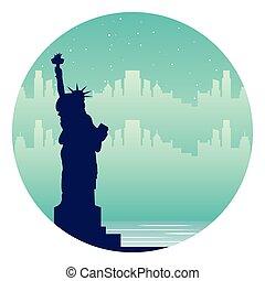 new york statue of liberty city landmark