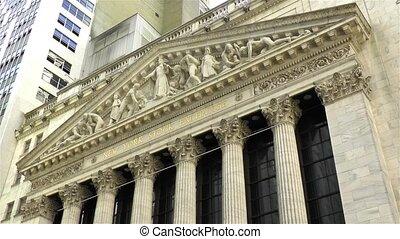 New York Stock Exchange building.