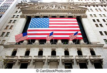 New York Stock Exchange Building in December