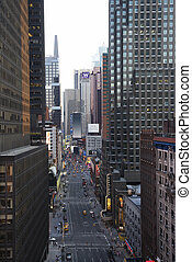 new york, strada., città
