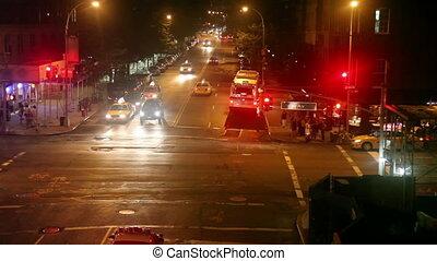 New York street time lapse