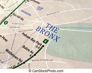 New York subway map - Subway map of the New York underground...