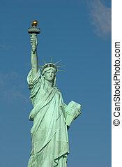 new york, szobor, usa, szabadság