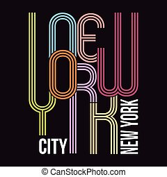 New York, T-shirt Typography Graphics, Vector Illustrati