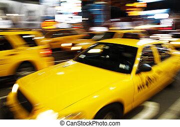 new york, taxi jaune
