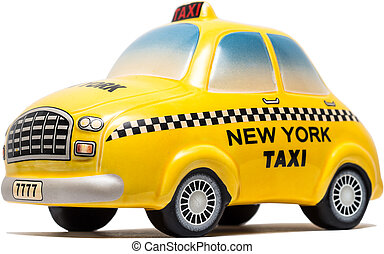New York Taxi Toy On A White Background